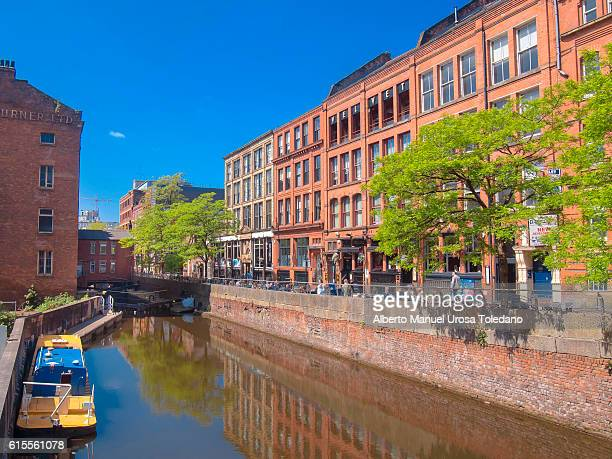england, manchester, canal st. gay village - manchester england stock pictures, royalty-free photos & images