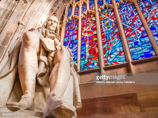 england, manchester cathedral, humphrey chetam - philanthropist stock pictures, royalty-free photos & images