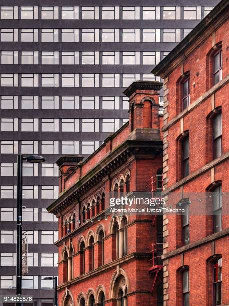 england, manchester, chinatown and downtown - manchester uk stock photos and pictures