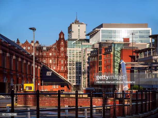 england, manchester, cityscape - manchester uk stock photos and pictures