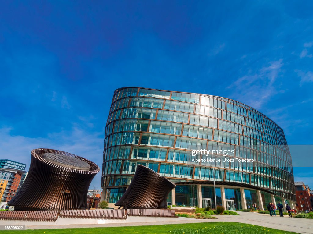 England, Manchester, Cooperative HQ - One Angel square : Stock Photo