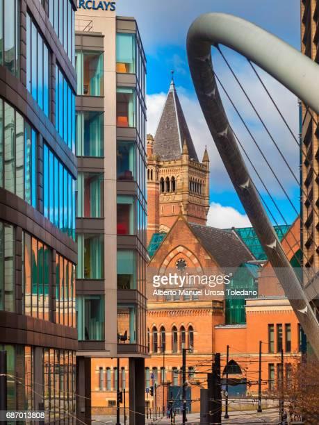 england, manchester, downtown and crown court minshull - manchester england fotografías e imágenes de stock