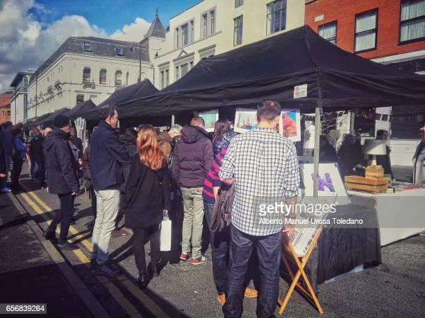 England, Manchester, Flea Market at the Northern Quarter