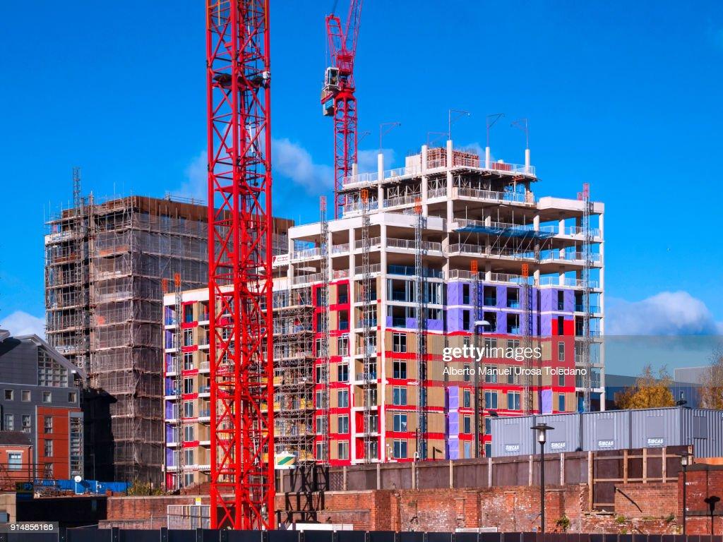 england manchester northern quarter construction site ストックフォト