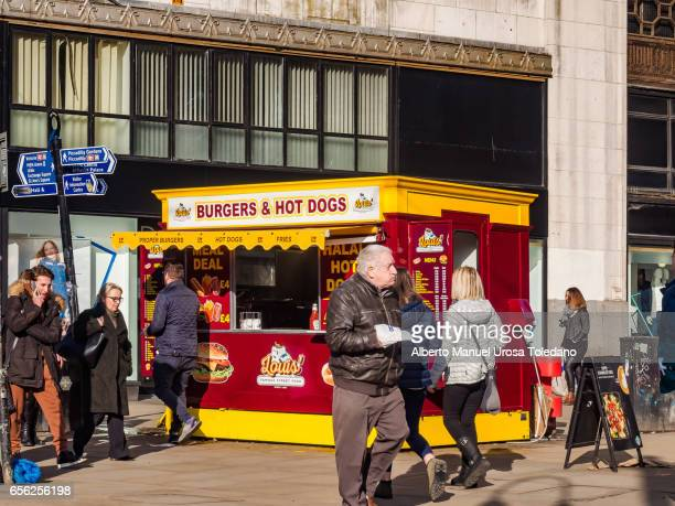 England, Manchester, Piccadilly Gardens, Food stall