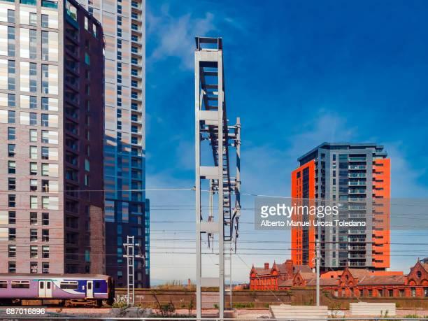england, manchester, salford - new developments - manchester reino unido fotografías e imágenes de stock