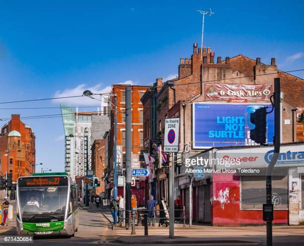 england, manchester, shudehill street - manchester england stock pictures, royalty-free photos & images
