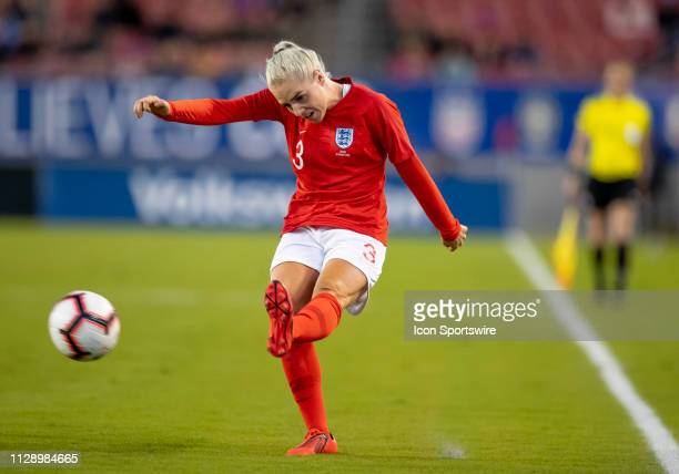 England midfielder Alex Greenwood passes the ball during the She Believes Cup match between the Japan and England on March 5 2019 at Raymond James...