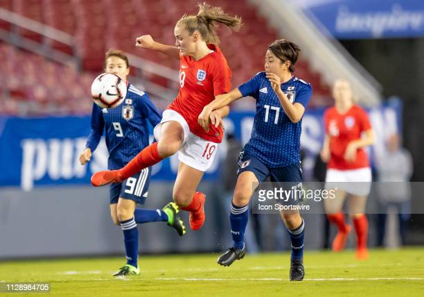 England midfielder Georgia Stanway receives the pass during the She Believes Cup match between the Japan and England on March 5 2019 at Raymond James...