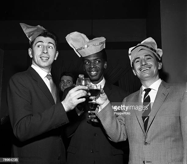 Ian Menzies Davy Jones and Kenny Ball are pictured at the Pye Christmas Party