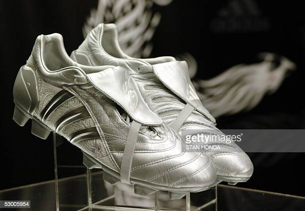 England National team and Real Madrid soccer player David Beckham unveiled his new Adidas Predator Pulse boot 01 June in New York Beckham made his...