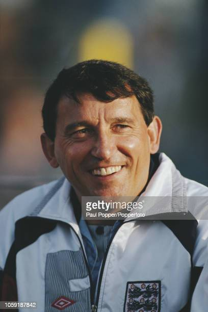 England national team manager Graham Taylor pictured on the bench prior to kick off in the Group 1 match between Denmark and England in the UEFA Euro...