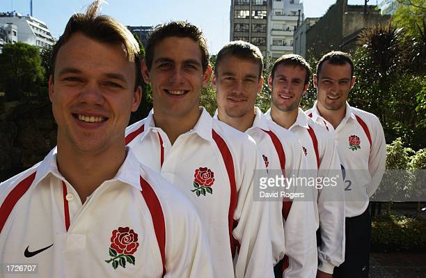 England new caps Phil Christophers Ben Johnston Michael Horak Geoff Appleford and Alex Codling who have been selected to play in the test match...