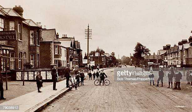 England Northamptonshire Postcards A picture of a street scene of Bletchley road in Bletchley Circa 1910
