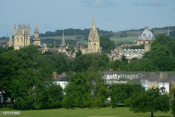 England, Oxford, Cowley Road, City of Spires, view of Oxford centre from South Park.