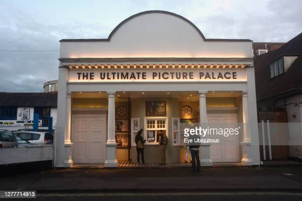 England, Oxford, Cowley Road, Ultimate Picture Palace Arthouse Cinema at night.