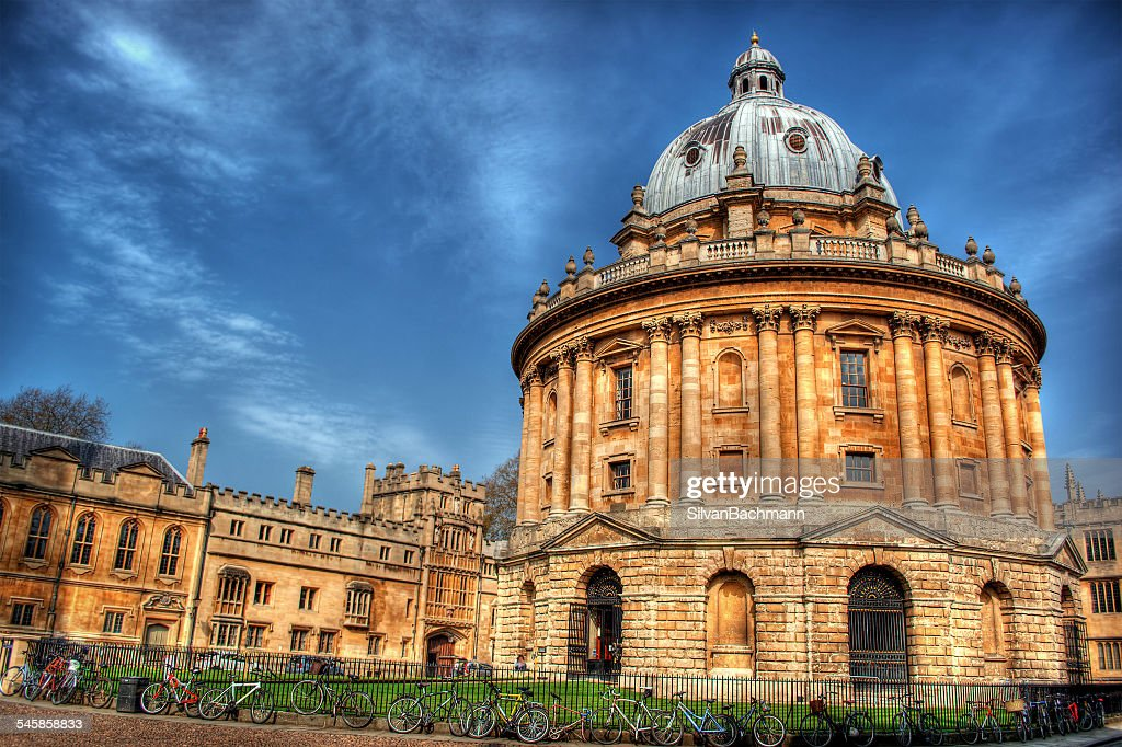 UK, England, Oxford, Low angle view of Radcliffe Camera : Stock Photo