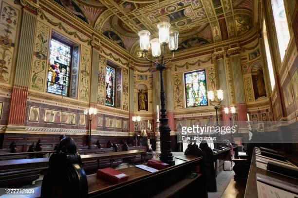 England, Oxford, Worcester College, chapel interior.