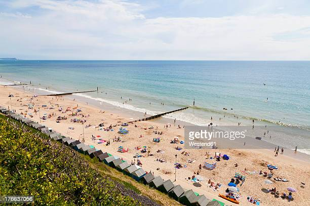 england, people at bournemouth beach - bournemouth england stock photos and pictures