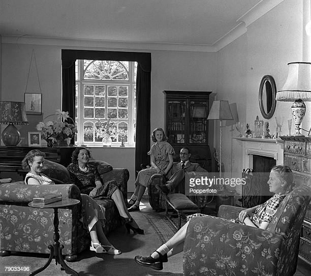 England Peter Churchill and his wife Odette are pictured at home with their three daughters Odette was a British Secret agent during World War II