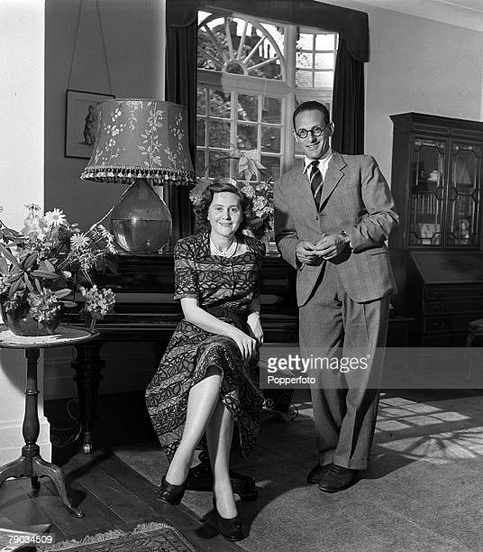 England Peter Churchill and his wife Odette are pictured at their home Odette was a British Secret agent during World War II