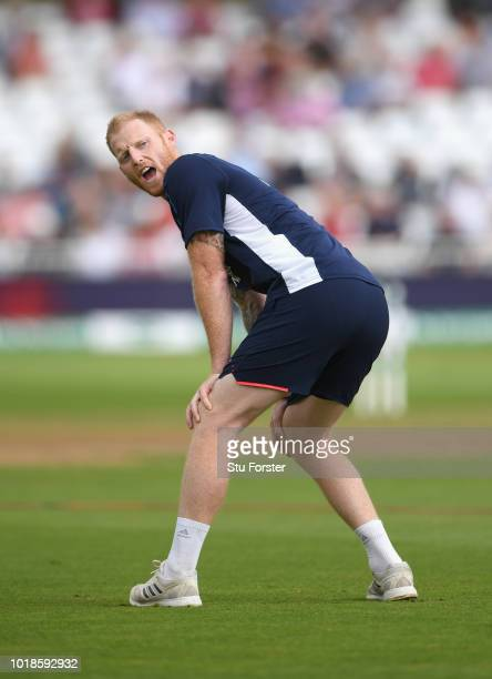 England player Ben Stokes pictured before day one of the 3rd Specsavers Test Match between England and India at Trent Bridge on August 18 2018 in...