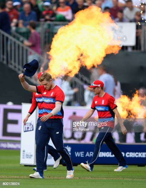 England player David Willey enters the field before the 2nd NatWest T20 International between England and South Africa at The Cooper Associates...