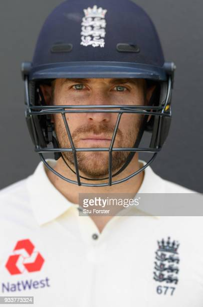 England player Dawid Malan pictured during England nets ahead of their first warm up match at Seddon Park on March 13 2018 in Hamilton New Zealand