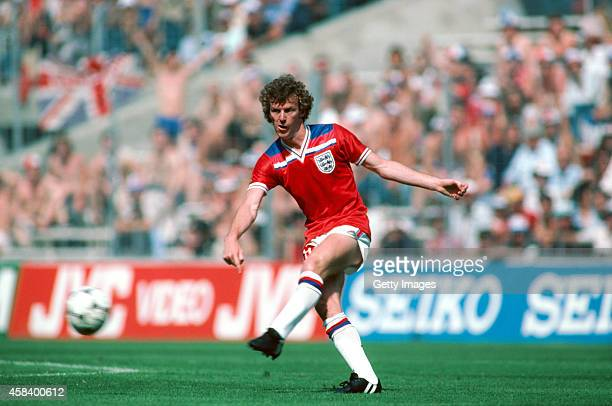 England player Graham Rix in action during the FIFA 1982 World Cup match between England and France at San Mames stadium on June 16 1982 in Bibao...