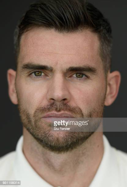 England player James Anderson pictured during England nets ahead of their first warm up match at Seddon Park on March 13 2018 in Hamilton New Zealand