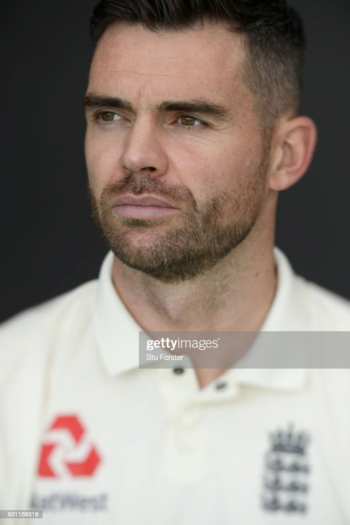 England player James Anderson pictured during England nets ahead of their first warm up match at Seddon Park on March 13, 2018 in Hamilton, New Zealand.