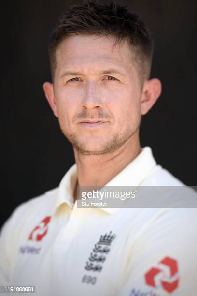 England player Joe Denly poses for a portrait during England nets at Willowmoore Park during the England Media Access on December 16, 2019 in Benoni,...