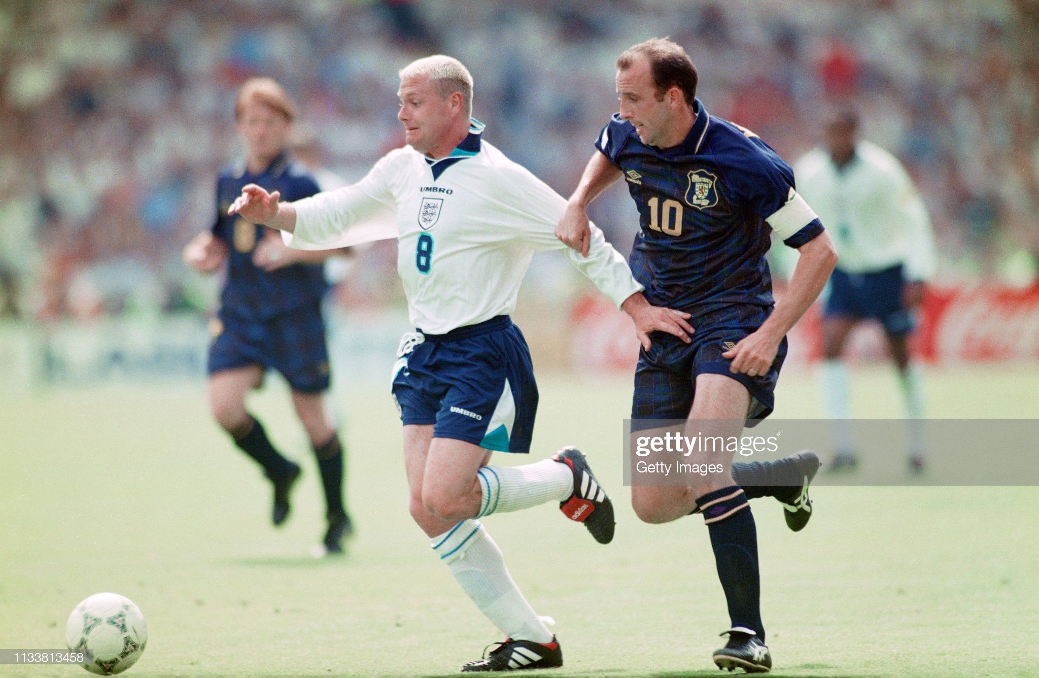 Paul Gascoigne England v Scotland Euro 1996 : News Photo