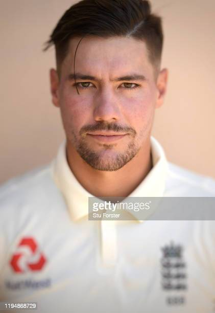 England player Rory Burns poses for a portrait during England nets at Willowmoore Park during the England Media Access on December 16, 2019 in...