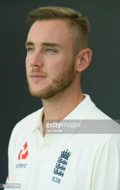 England player Stuart Broad pictured during day two of the Test warm up match between England and New Zealand Cricket XI at Seddon Park on March 15...