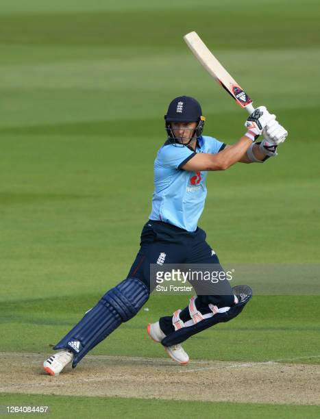 England player Tom Curran in batting action during the Third One Day International between England and Ireland in the Royal London Series at The...