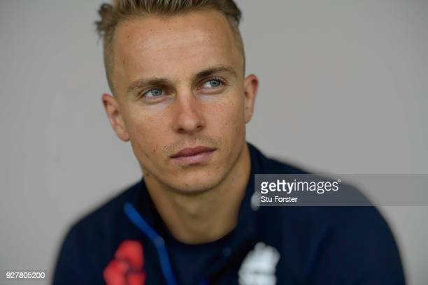 England player Tom Curran pictured ahead of the First ODI v New Zealand Black Caps at Seddon Park on February 23 2018 in Hamilton New Zealand