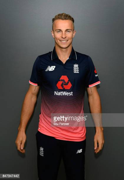 England player Tom Curran pictured during England nets ahead of the T20 against the West Indies at Emirates Durham ICG on September 15 2017 in...