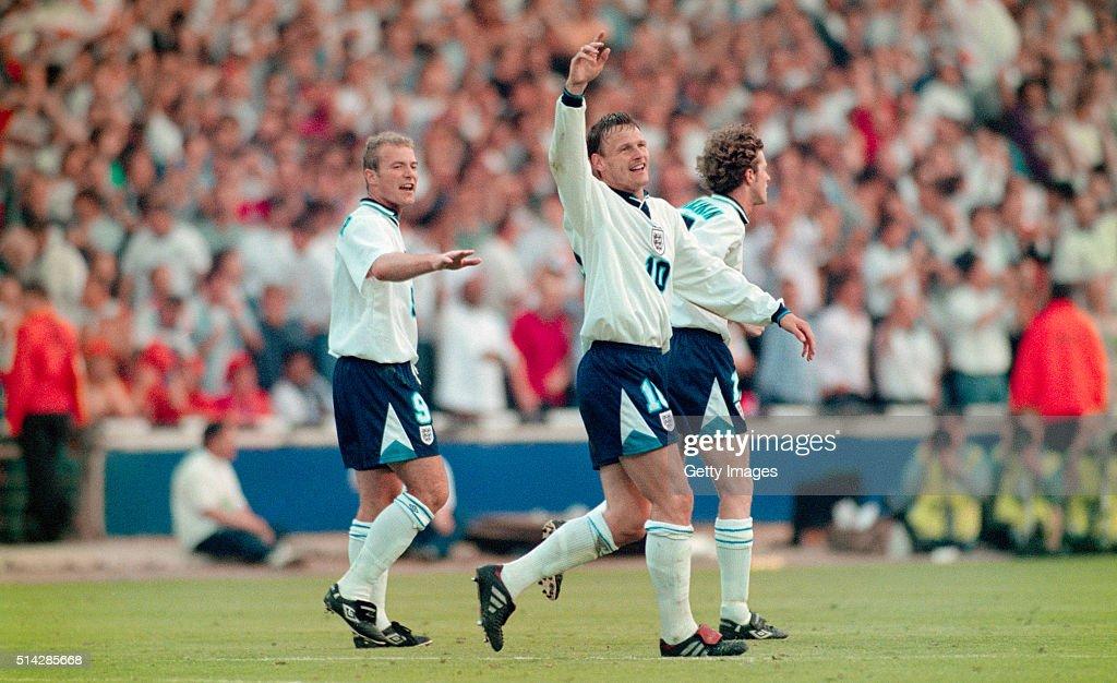 1996 UEFA European Championships England v Netherlands : News Photo