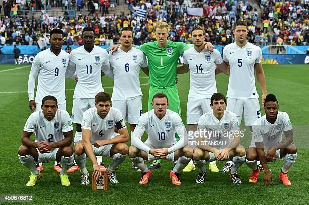 England players : forward Daniel Sturridge, forward Daniel Welbeck, defender Phil Jagielka, goalkeeper Joe Hart, midfielder Jordan Henderson,defender...