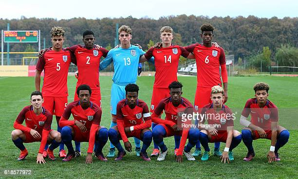 England players Joel Latibeaudiere Timothy Eyoma goalkeeper Thomas Mcgill Lewis Gibson Jonathan Panzo Phil Foden Tashan OakleyBoothe Angel Gomes...