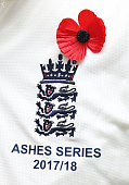 adelaide australia england players wear poppies