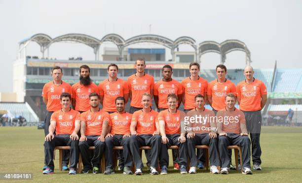 England pose for their offical group photograph at Zahur Ahmed Chowdhury Stadium on March 31 2014 in Chittagong Bangladesh