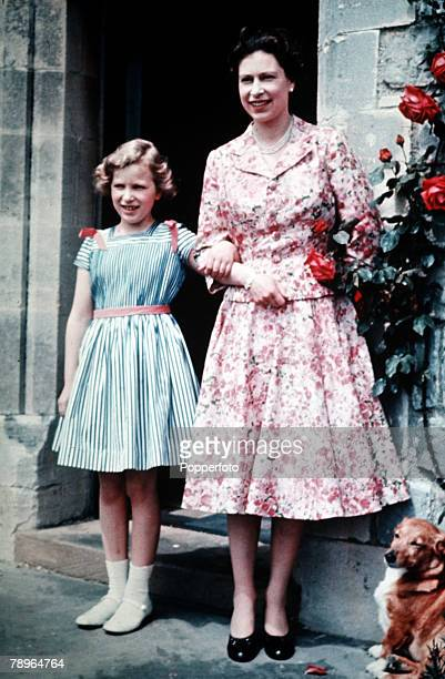 England Queen Elizabeth II is pictured with her daughter Princess Anne