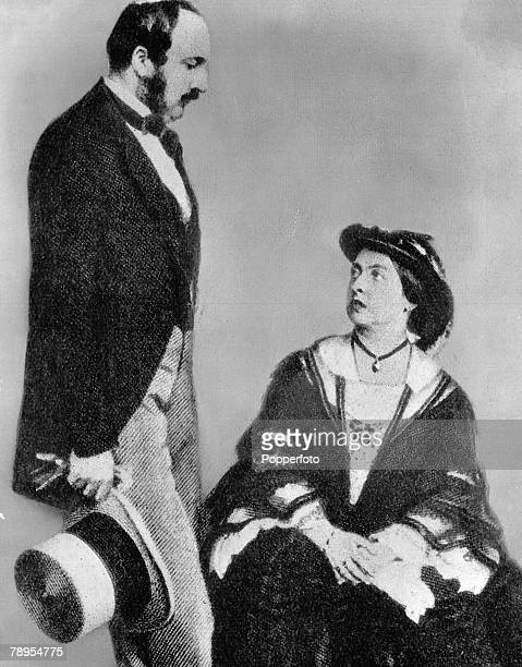 England Queen Victoria of the United Kingdom 1891 1901 with her husband Prince Albert consort
