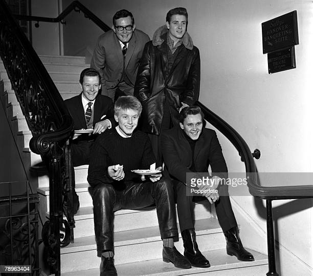 England Rock and Roll singers clockwise Craig Douglas television producer Jack Good Eddie Cochran Billy Fury and Joe Brown