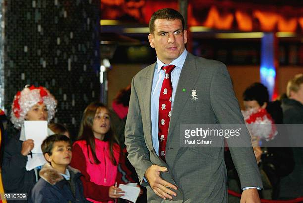 England rugby captain Martin Johnson arrives for the BBC Sports Personality of the Year Awards at BBC Television Centre on December 14 in London.
