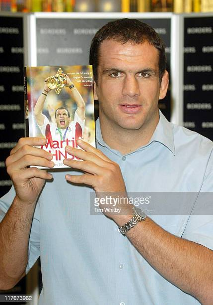 England rugby captain Martin Johnson during England Rugby captain Martin Johnson signs copies of his new Autobiography at Borders Book Store Oxford...
