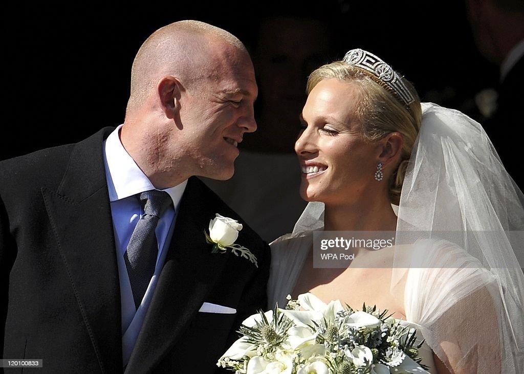 Zara Phillips Marries Mike Tindall In Edinburgh : News Photo