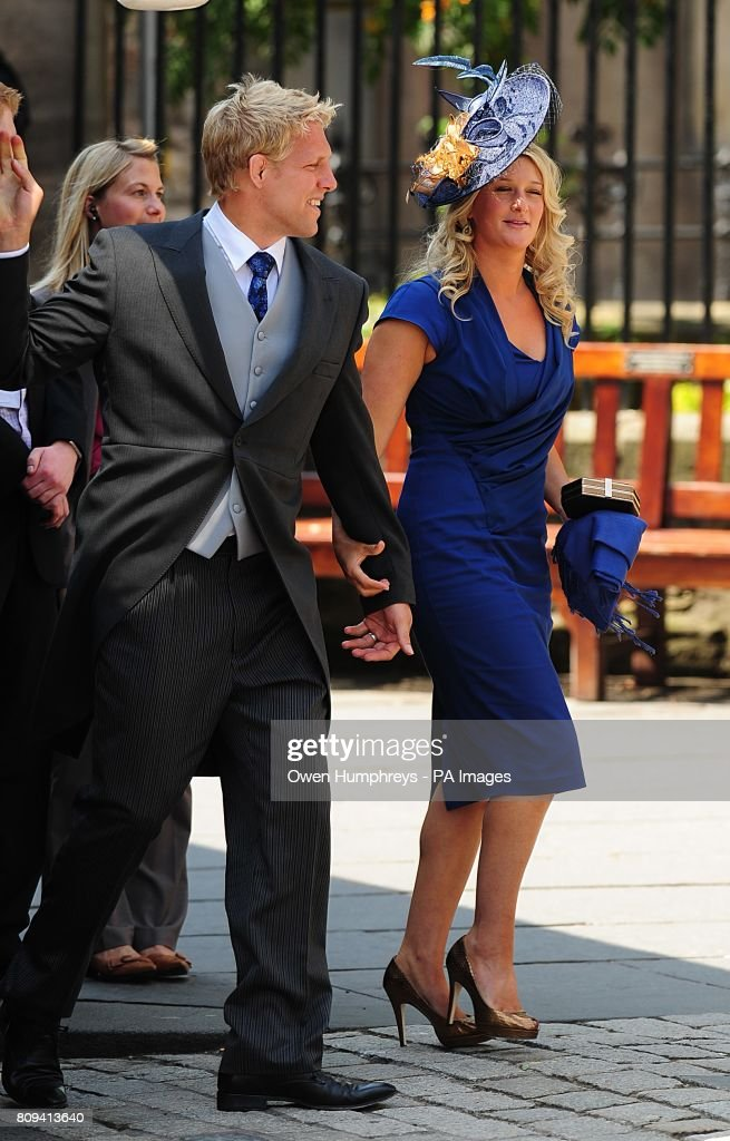England Rugby Player Lewis Moody And Wife Annie Arriving For The